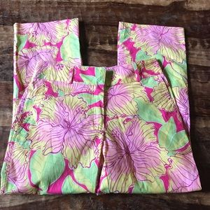 Lilly Pulitzer Cropped Pants Pink Aloha