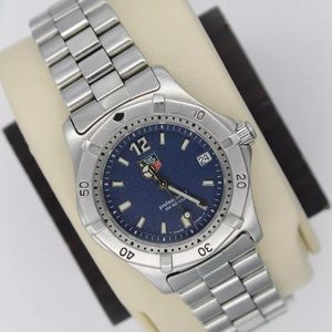 Tag Heuer Accessories - Tag Heuer blue face classic women's watch SS USED