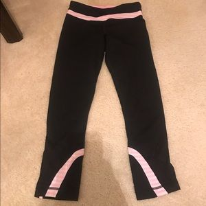 Pink and white Lululemon pants