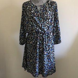 Lush Dresses & Skirts - Lush floral 3/4 sleeve dress