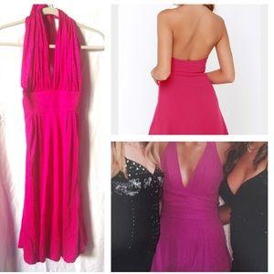 Catherine Malandrino Dresses & Skirts - NWT 100% silk fuchsia halter prom dress