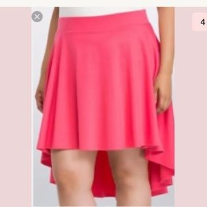 NEW Torrid hi low Skater Circle Skirt pink 1X