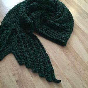 Accessories - Green Chunky Mermaid Tail Blanket Sack