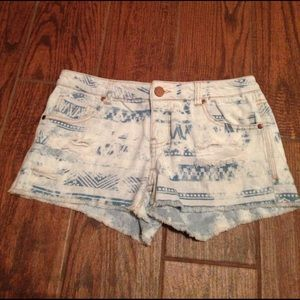Tinseltown Pants - Blue Bleached Ripped Jeans