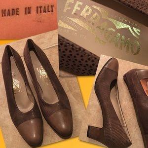 Salvatore Ferragamo Shoes - Salvatore Ferragamo Cap Toe Heels