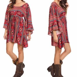 tla2 Dresses & Skirts - NAVAJO PRINT DRESS