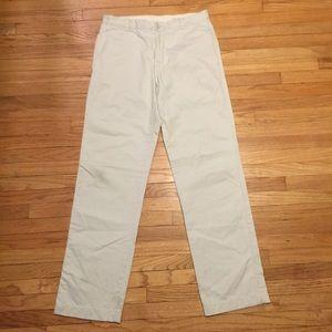 J Crew men's light beige khaki pants - 32x34