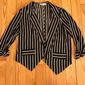 Silky striped LUSH blazer