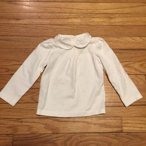 Janie and Jack white l/s shirt top - 12-18 months