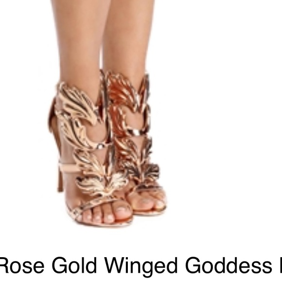 5a991c38510 Rose gold wings heels. M 58c62d1d522b450a9906d843
