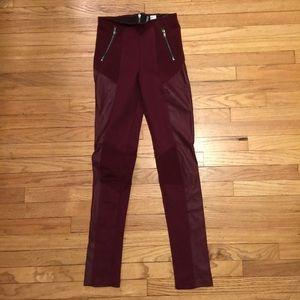 H&M burgundy skinny leg pants - sz 4