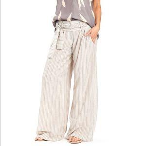 Karen Zambos Pants - Wide Leg Pant in Pinstripe by Karen Zambos