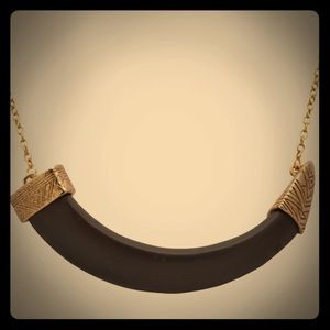 House of Harlow 1960 Jewelry - Rare House of Harlow Crescent Horn Necklace