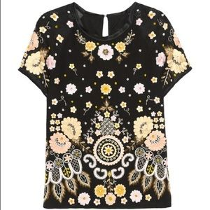 NWT Needle & Thread Embellished Embroidered Top