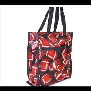 Football Tote Bag with Coin Purse