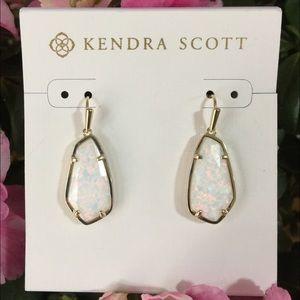 Kendra Scott Jewelry - Kendra Scott Camelia Earrings White Kyocera Opal