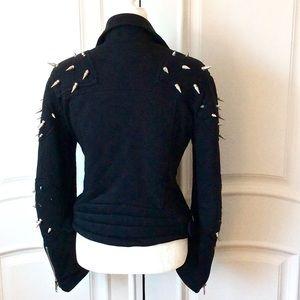 Topshop Jackets & Coats - ASHISH FOR TOPSHOP BLACK SPIKED BIKER JACKET