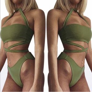Other - Army green bathing suit