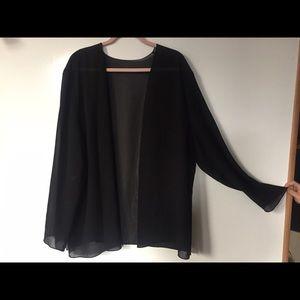 Jackets & Blazers - Vintage sheer black kimono
