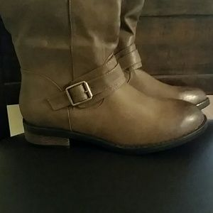 Restricted Shoes - Thigh high Brown Boots.