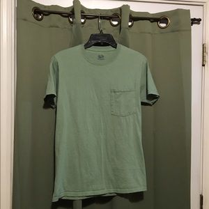 Fruit of the Loom Other - Men's Green Pocket Tee