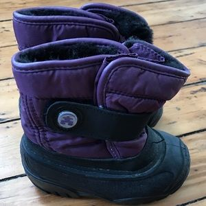 Kamik Other - Cozy Kamik Purple Snow Boots (Size Toddler/baby 6)