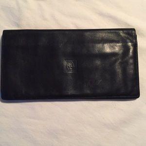 Balmain Accessories - Balmain Black Leather Checkbook Cover