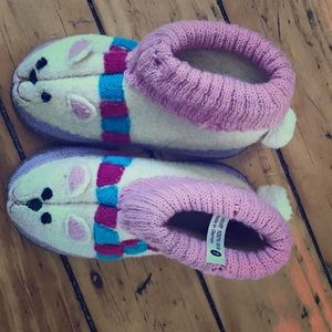 Garnet Hill Other - Garnet Hill Little Girls Wool Slippers