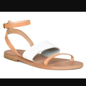 Joie tan and white strappy sandals