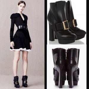 Alexander McQueen Shoes - Alexander McQueen platform leather ankle boots 9