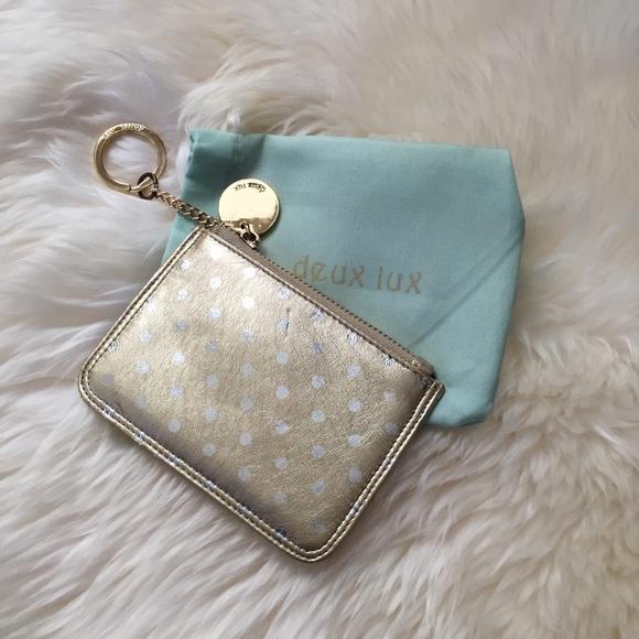 Deux Lux Accessories - Gold & Silver Polka Dot Key/Card Case | Deux Lux