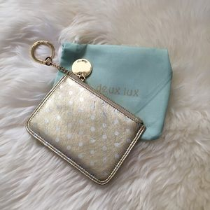 Deux Lux Accessories - Gold & Silver Polka Dot Key/Card Case | Deux Lux