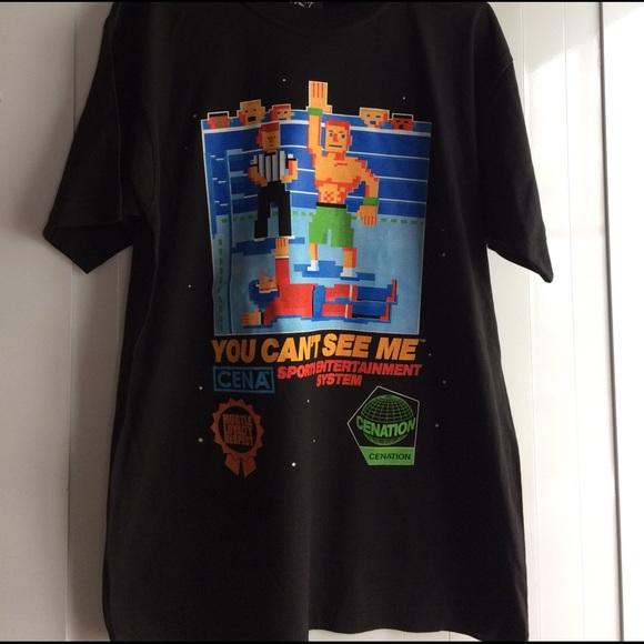 WWE Mens John Cena Fire Color T-Shirt T-Shirt