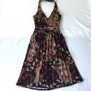 Velvet Torch Dresses & Skirts - Velvet Torch halter dress sz S Navy/tan floral