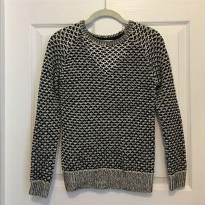 Sparrow Anthropologie Black & White Knit Sweater