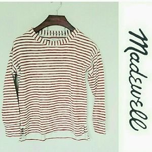 Madewell Tops - Madewell striped sweater top! Small