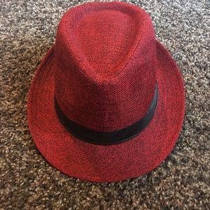 Accessories - Red Fedora Hat