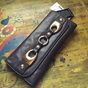 b. makowsky Handbags - B Makowsky leather eggplant wallet