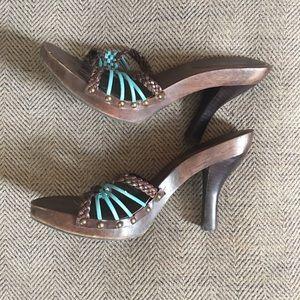 XOXO Wooden Heels