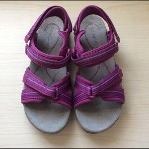 Easy Spirit Shoes - Purple Sandals w/light Blue Trim