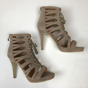 """Shoes - ❗️LAST  Taupe, Lace-Up, 5"""" Heels"""