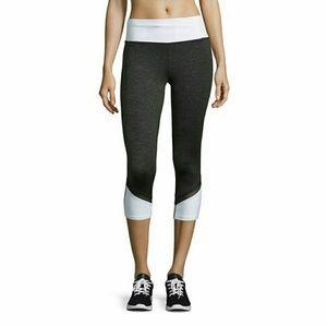 Xersion Pants - White Grey & Black Mesh Capri