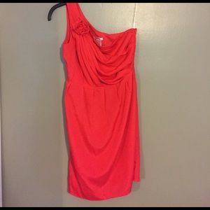Esley Dresses & Skirts - Esley coral one shoulder Dress