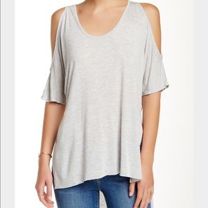 Lily White Cold Shoulder Top