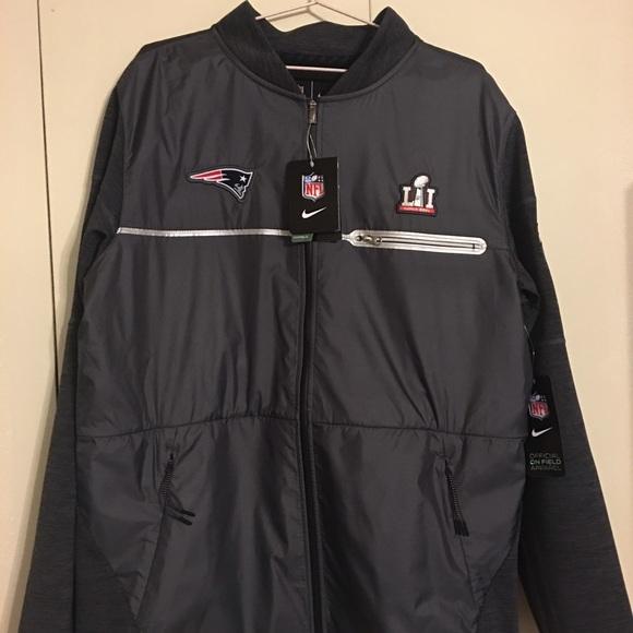 promo code 601f6 6096c Nike England patriots super bowl 51 hybrid jacket NWT