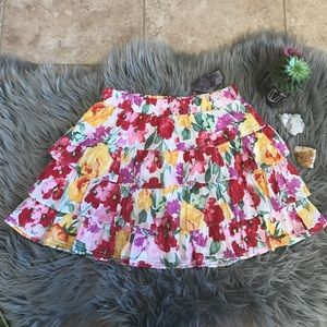 Gilly Hicks floral layered skirt