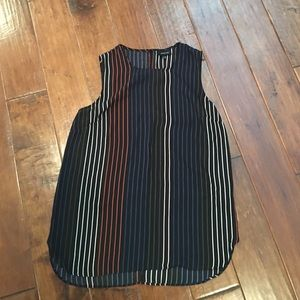 Who What Wear Tops - Who What Wear Stripped Sleeveless Blouse