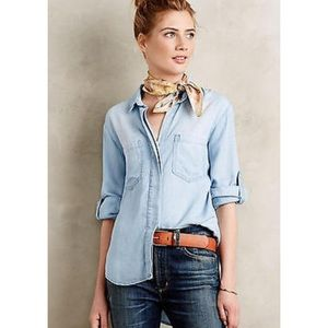Anthropologie Tops - Anthropologie Cloth & Stone Split-Back Button Down