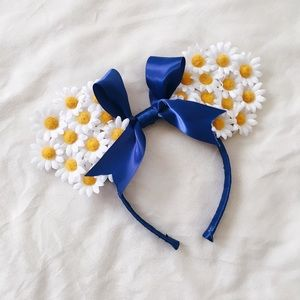 Accessories - Daisy + Navy Mouse Ear Headband