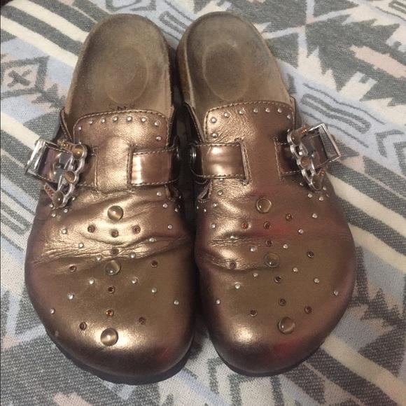 18588c28c2e842 Birkenstock Shoes - Rare Copper Rhinestone Birkenstocks